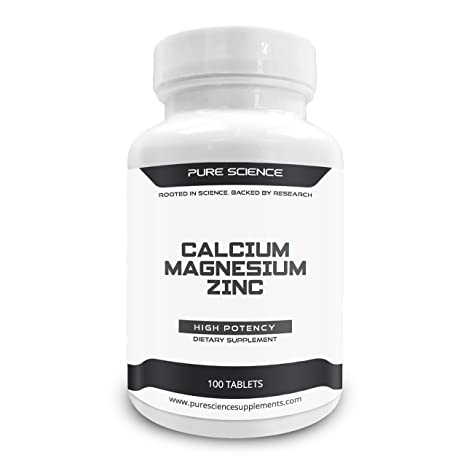 Pure Science Calcio 1000 mg Magnesio 400 mg Zinc 25 mg - 1425 mg con 5