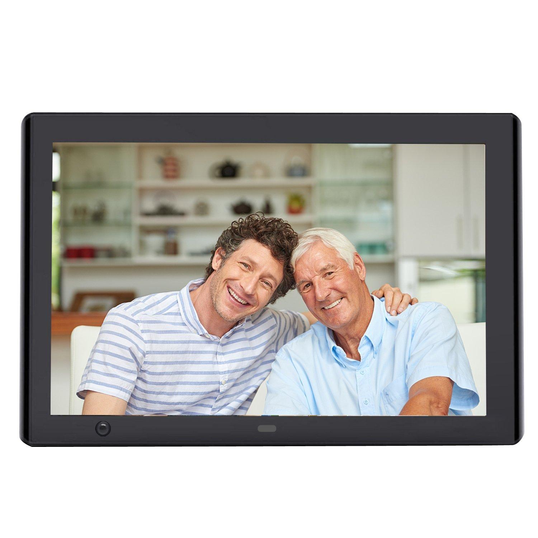 Digital Picture Frame, YENOCK 10.1 Inch Motion Sensor Digital Frame 1024x600 High Resolution Photo/Music/HD Video/Calendar/Alarm Auto On/Off Advertising Player