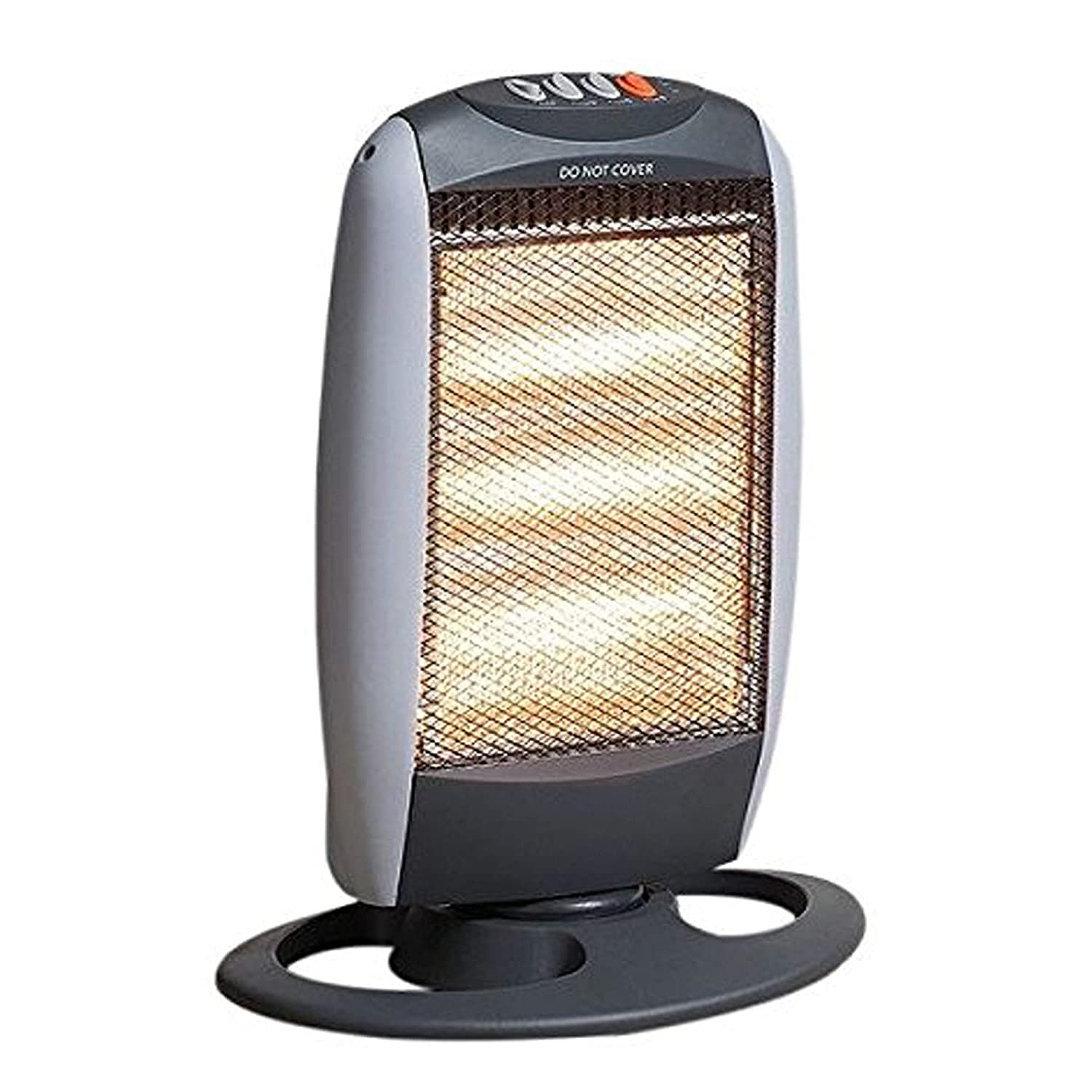 FB FunkyBuys® 1200-Watt Rotating Halogen Heater Portable Three Heat Settings Oscillating Warmer Heating Device Home Office Garden