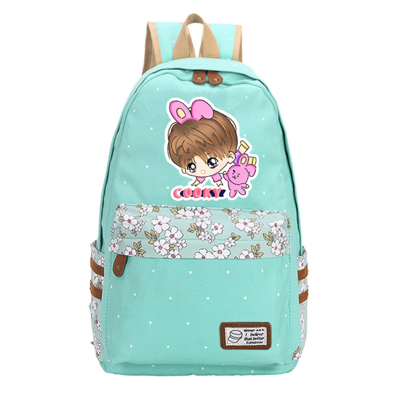 JUSTGOGO KPOP BTS Bangtan Boys Backpack Daypack Laptop Bag College Bag Book Bag School Bag (2)