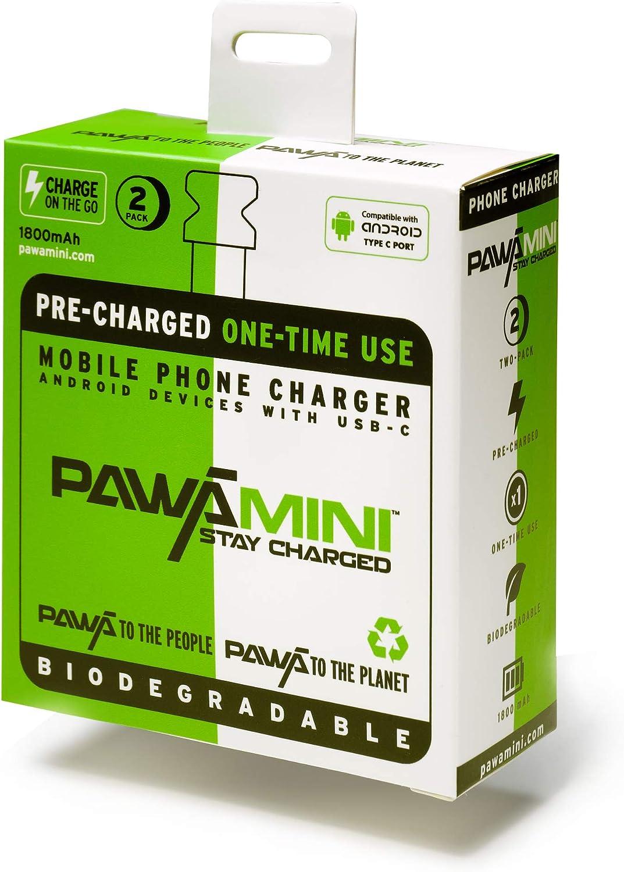 PAWAMINI - Cargador precargado desechable de 1800 mAh para Puerto ...