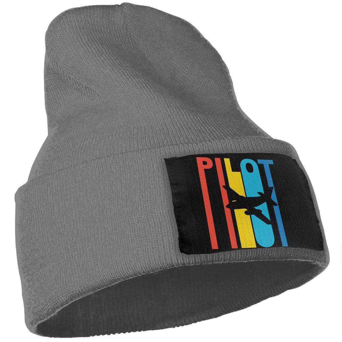 Vintage 1970s Style Airplane Pilot Beanie Cap Hat Men /& Women Knit Hats Stretchy /& Soft Beanie