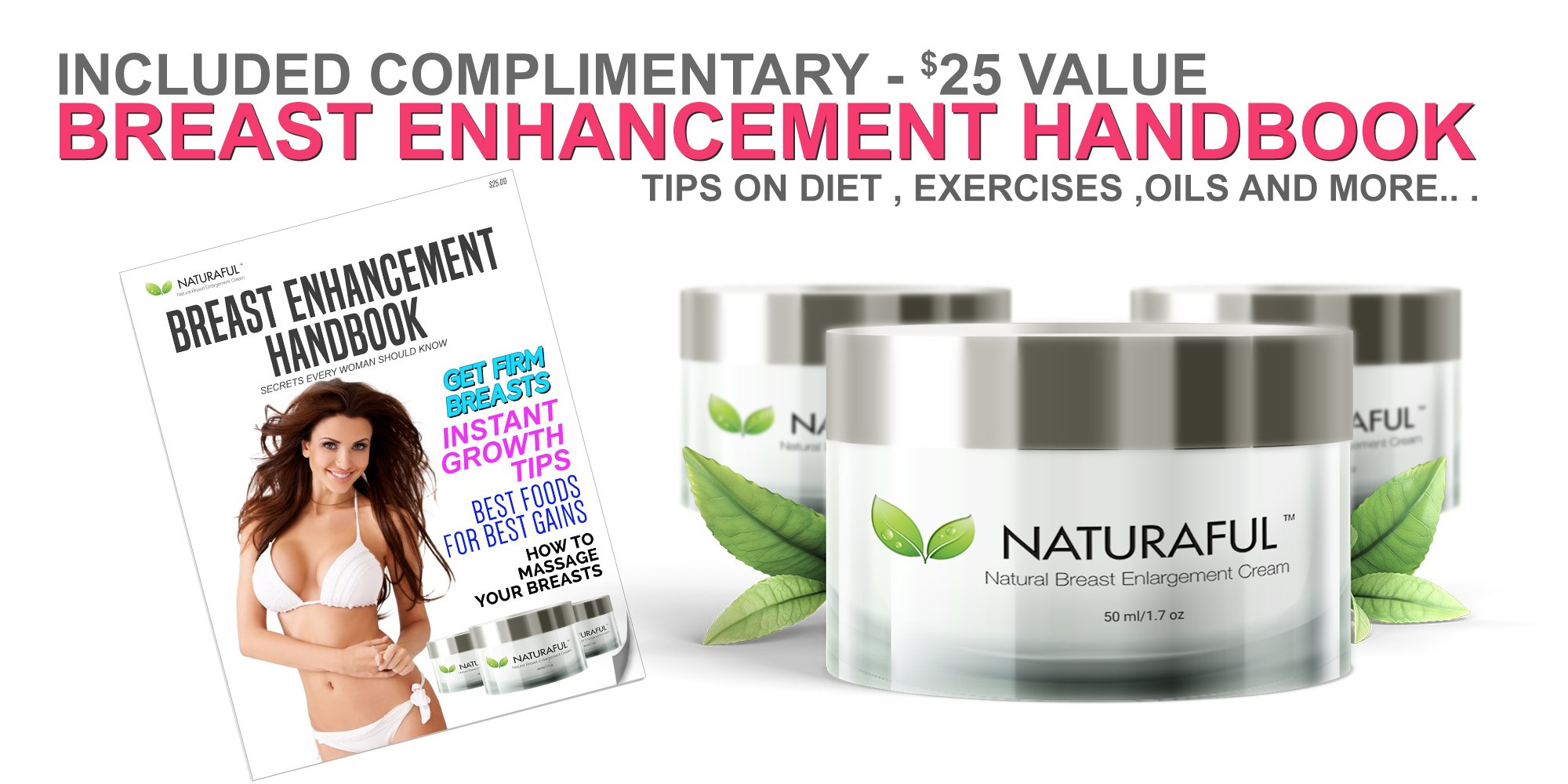 NATURAFUL - (5 JAR SUPPLY) TOP RATED Breast Enhancement Cream - Natural Breast Enlargement, Firming and Lifting Cream | Hormone Balancing, Made from Plant Extracts, Trusted by Over 100,000 Users by Naturaful (Image #5)
