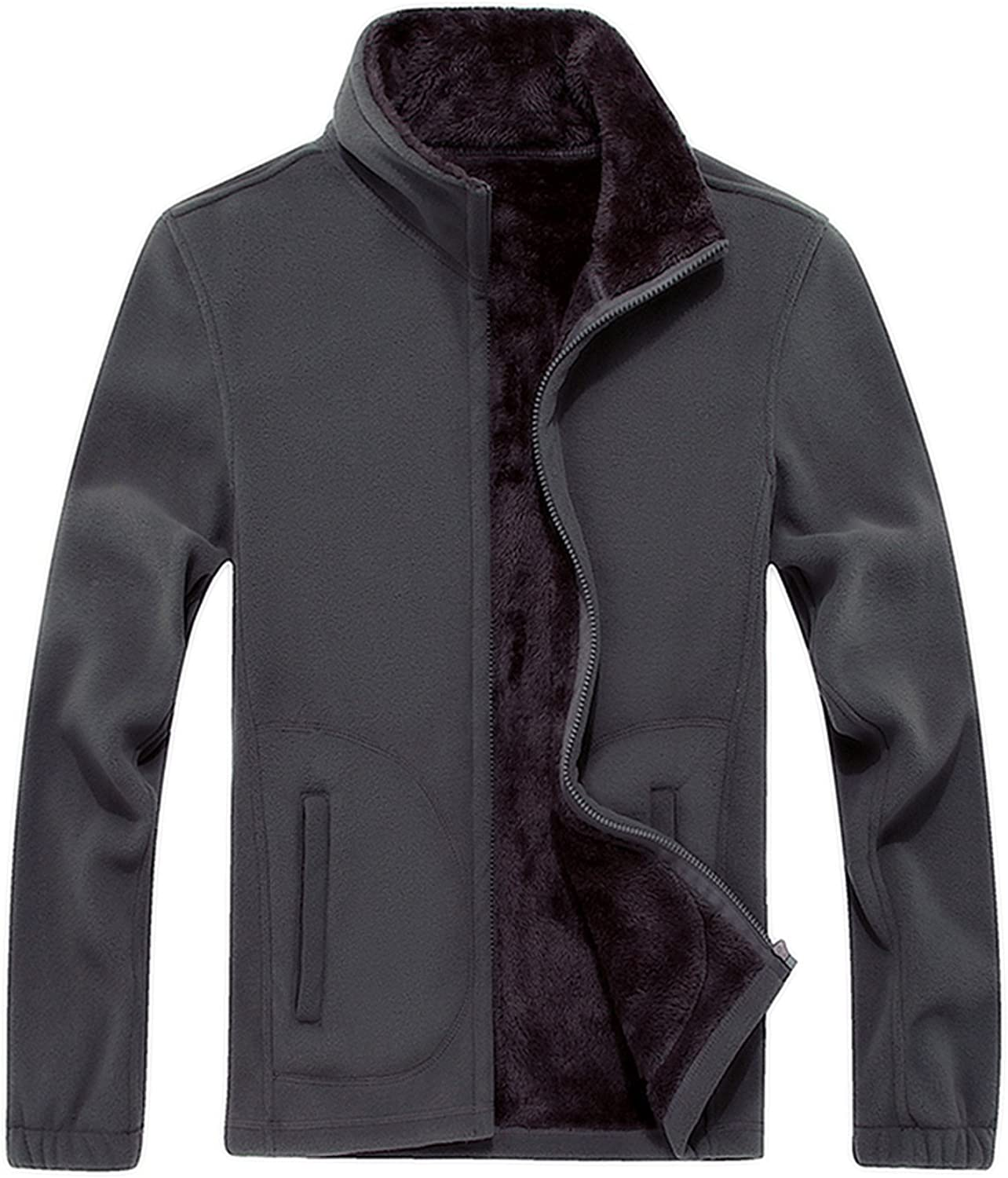 Olive Tayl Winter Male Jackets for Men Coat Outerwear Thick Warm Velvet Casual Fleece Big Size XL-8XL