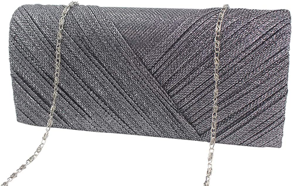Willow S Fashion Women Shoulderbag Pleated Clutch Solid Ruched Embroidery Cocktail Party Bag Chain Phone Evening Bag