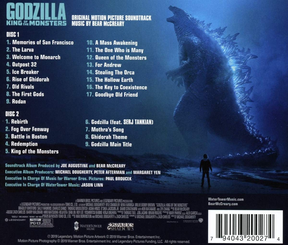 Bear Mccreary Godzilla King Of The Monsters Soundtrack Amazon