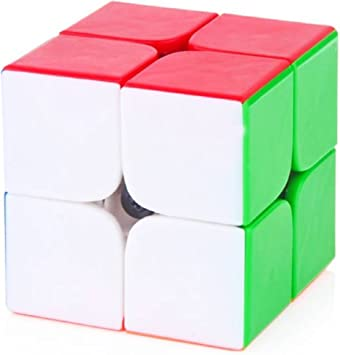 Super Deal BAZZAR Store 2x2 High Speed Stickerless Speedy Magic Rubiks Cube - (Pack of 1) (Color - Multicolor)