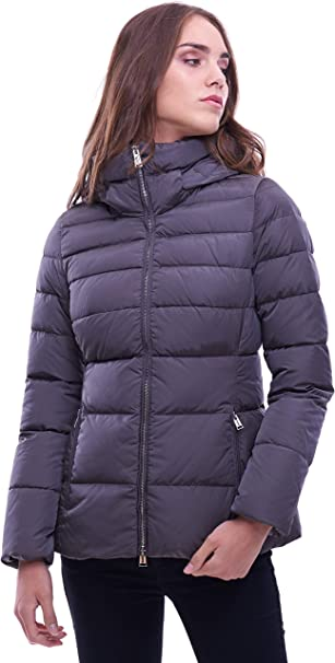 Add Short Grey DOWN Jacket with Hood: : Bekleidung
