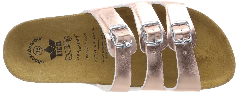 Lico Damen Bioline Bioline Bioline Kids Shine Pantoletten Pink (Rosa Rosa) c212b5