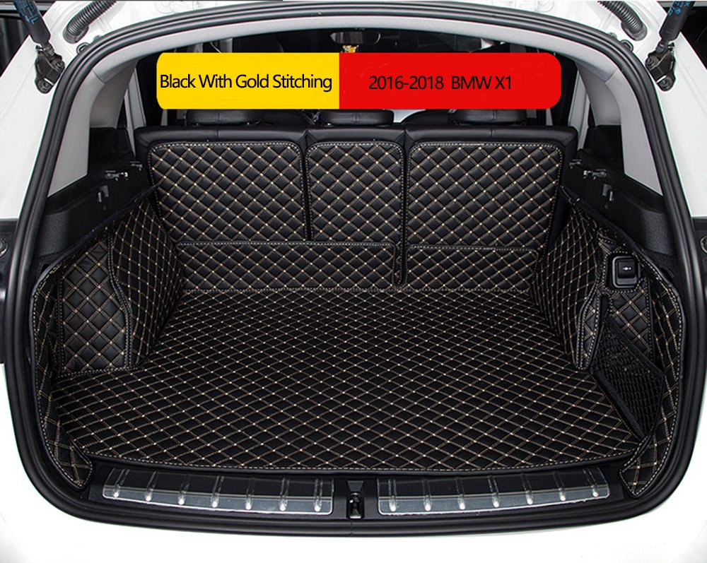 Worth-Mats 3D Full Coverage Waterproof Car Trunk Mat for BMW X1 2016-2019 -Black