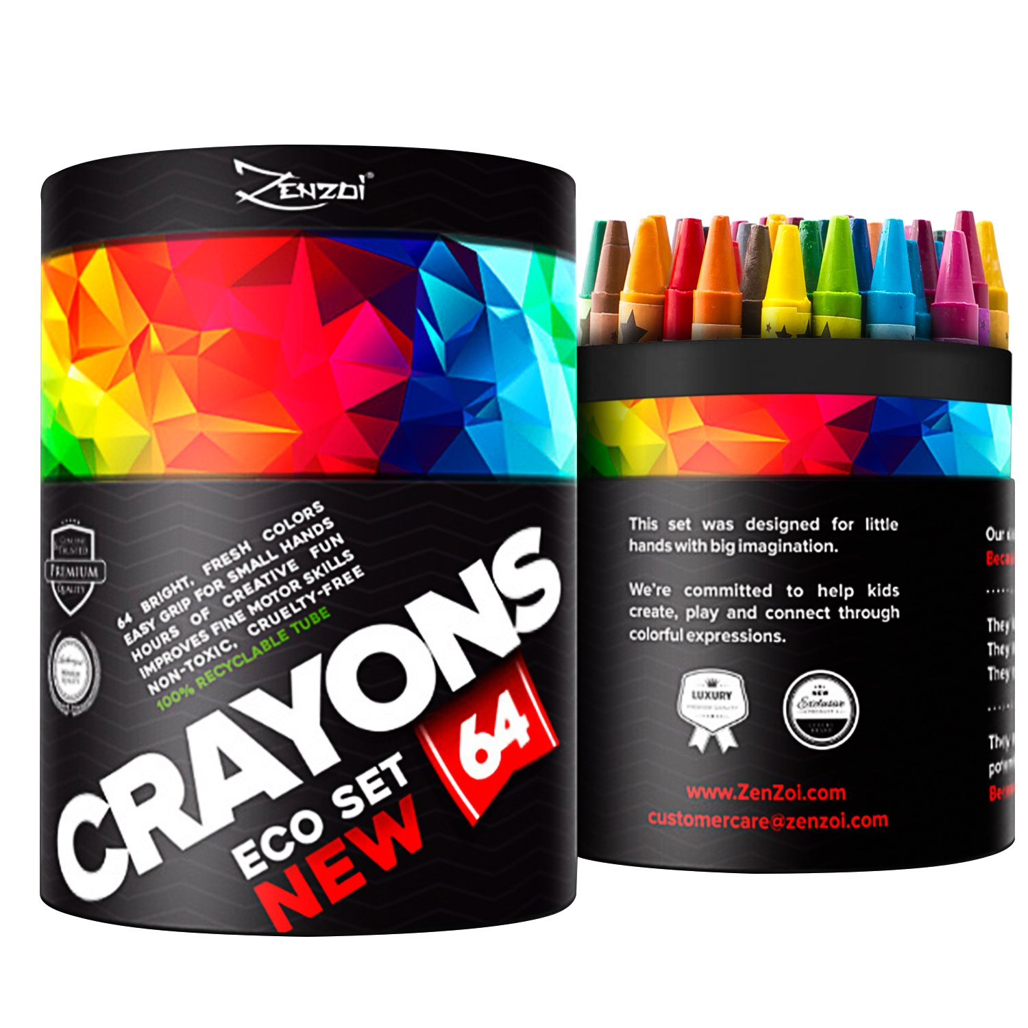 Crayons for Toddlers Babies Kids Bulk Gift Box Colored Crayon Pack