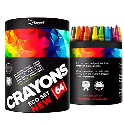 Crayons for Toddlers Babies Kids Bulk Gift Box Colored Crayon Pack ...