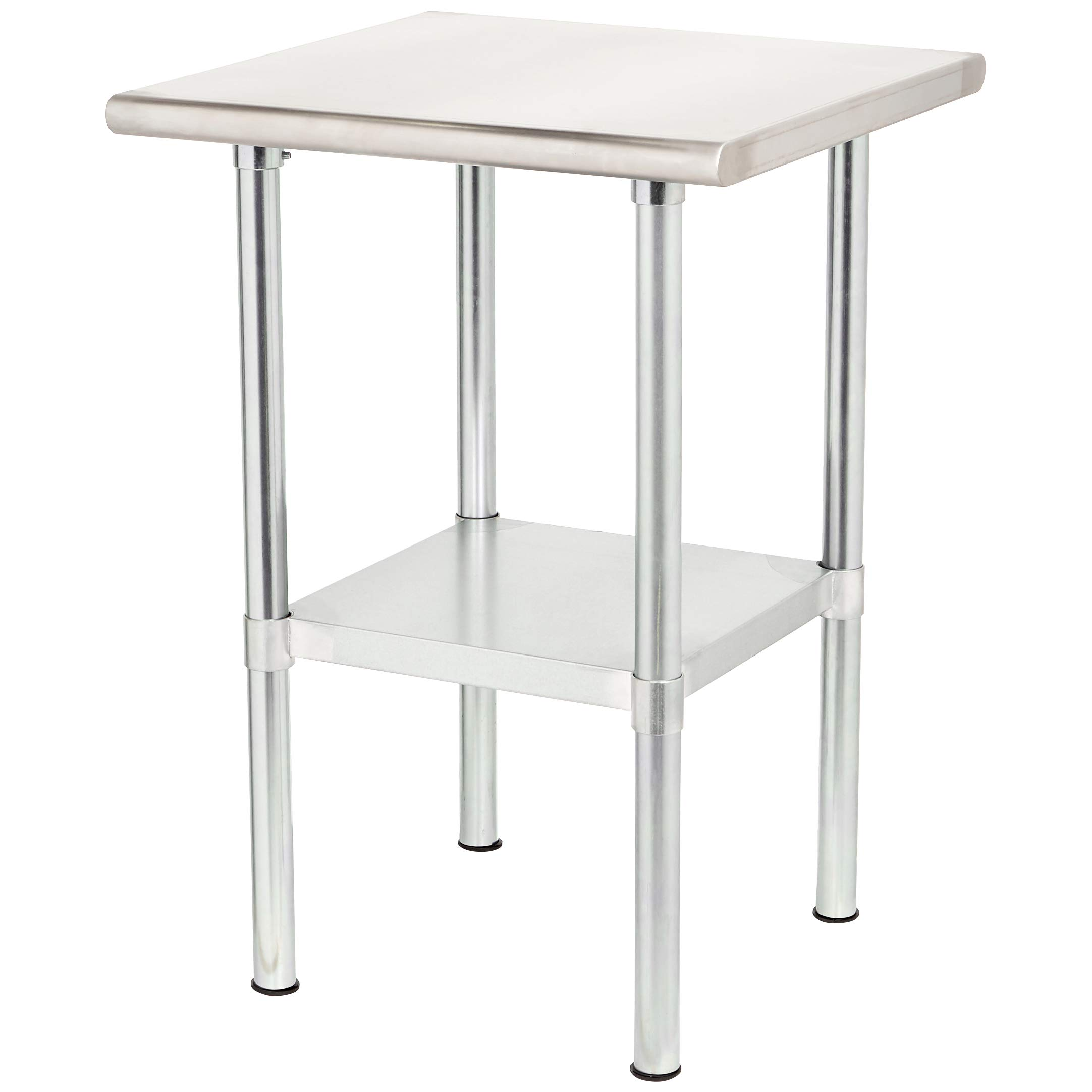 Rockpoint Carmona Tall NSF Stainless-Steel Kitchen Work Table with Adjustable Shelf by ROCKPOINT