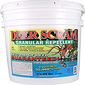 Enviro Pro 1025 Deer Scram Repellent Granular White Pail, 25 Pounds