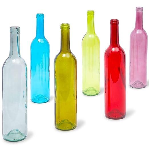 Juvale - Botellas de vino vacías (6 unidades), color burdeos ...