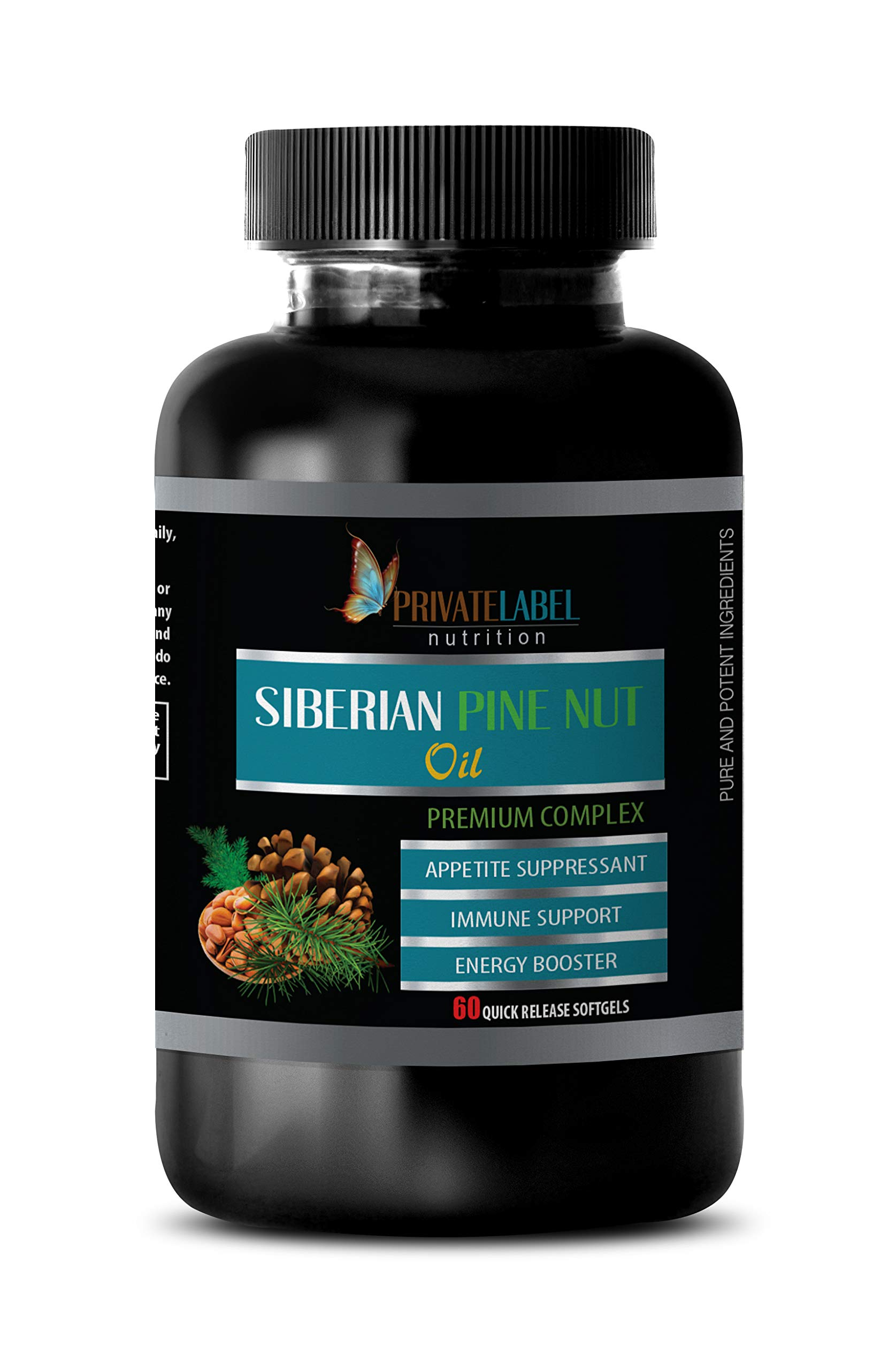 antioxidant Capsules - Siberian Pine NUT Oil - Premium Complex - Energy Supplements for Women - 1 Bottle 60 Softgels by PRIVATE LABEL LLC