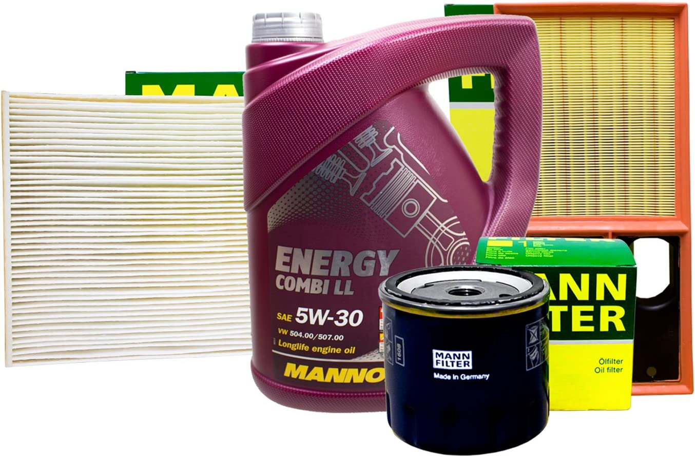 Mann Filter Set Inspektionspaket 5l Mannol 5w 30 Auto