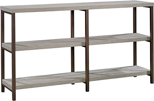 Sauder Manhattan Gate Console Table, L 66.02 x W 15.59 x H 35.83 , Mystic Oak Finish