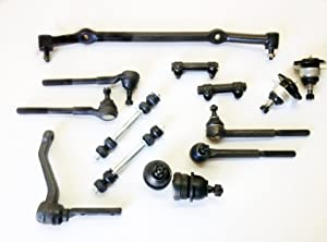 14 Piece Kit Inner & Outer Tie Rod Ends, Adjusting Sleeves, Upper & Lower Ball Joints, Idler Arm, Sway Bar Links and Center Link