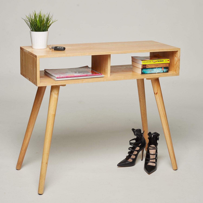 Mesa consola/tocador/escritorio – madera de pino maciza – 90 x 35 ...