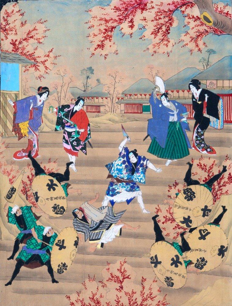 歌舞伎ShibaiヴィンテージポスターC。1900 16 x 24 Giclee Print LANT-58431-16x24 B017ZF31SU  16 x 24 Giclee Print