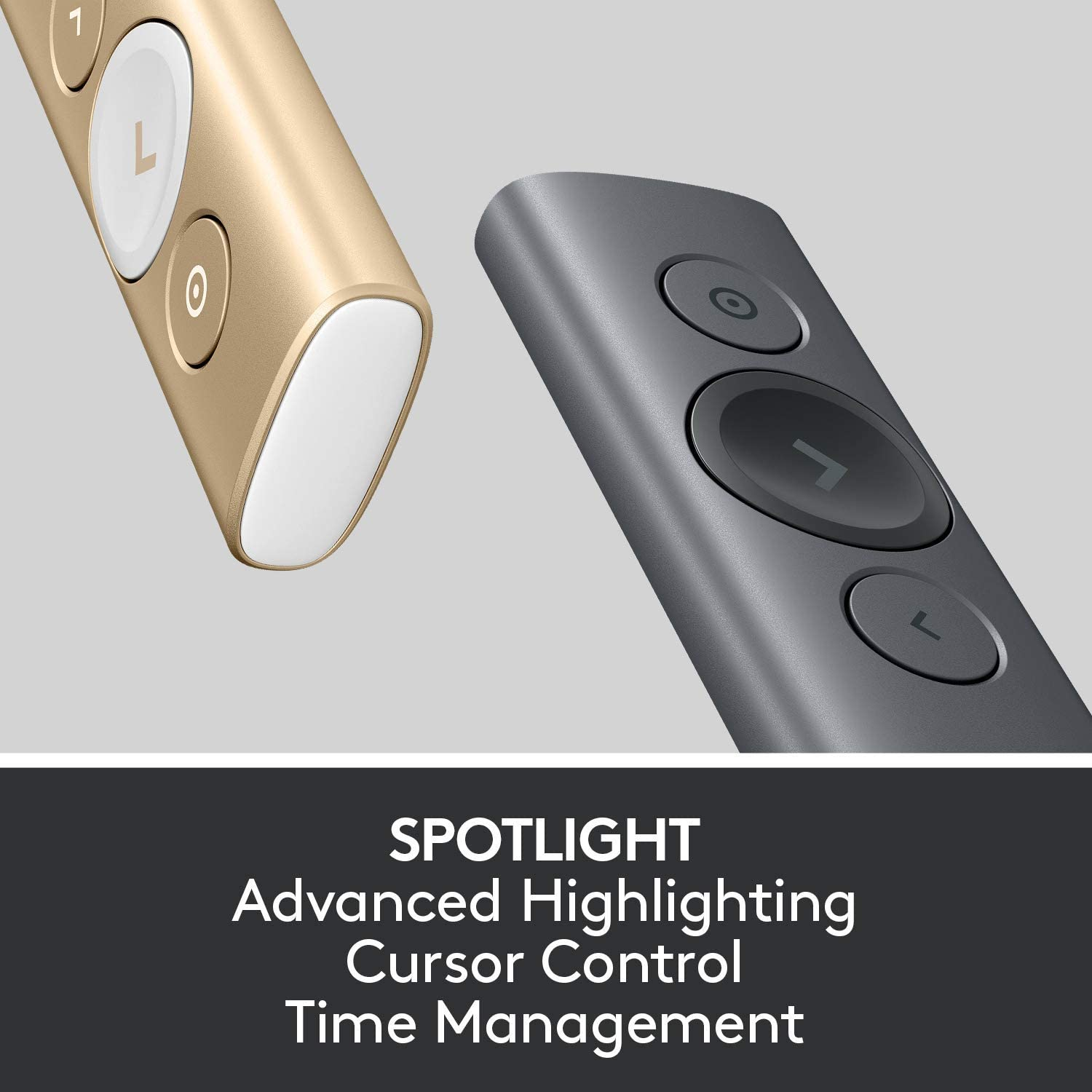 Logitech Spotlight Presentation Remote - Advanced Digital Highlighting with Bluetooth, Universal Presenter Clicker, 30M Range and Quick Charging – Black: Computers & Accessories