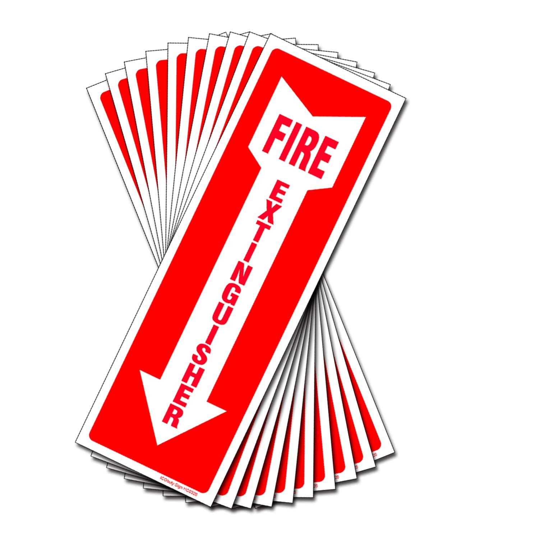 Amazon.com: Juego de 10 carteles de extintor de incendios de ...