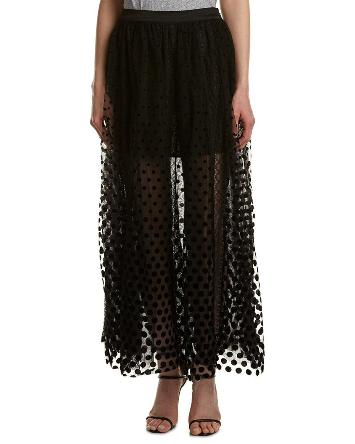 Free People Women's Dreaming Of You Maxi Tutu Skirt (12, Black)
