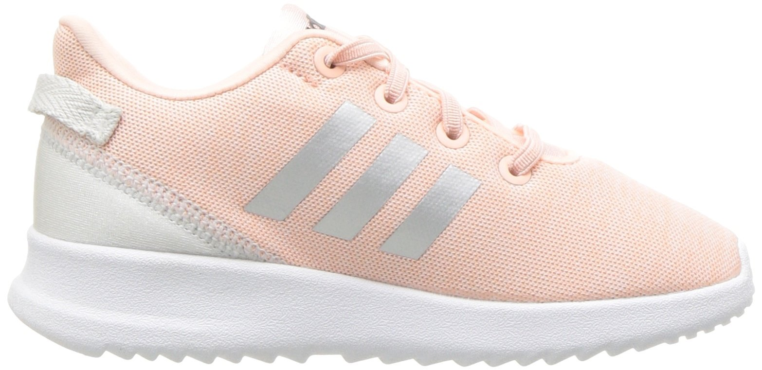 adidas Kids CF Racer TR Running Shoe, Haze Coral/Metallic Silver/White, 4K M US Toddler by adidas (Image #7)