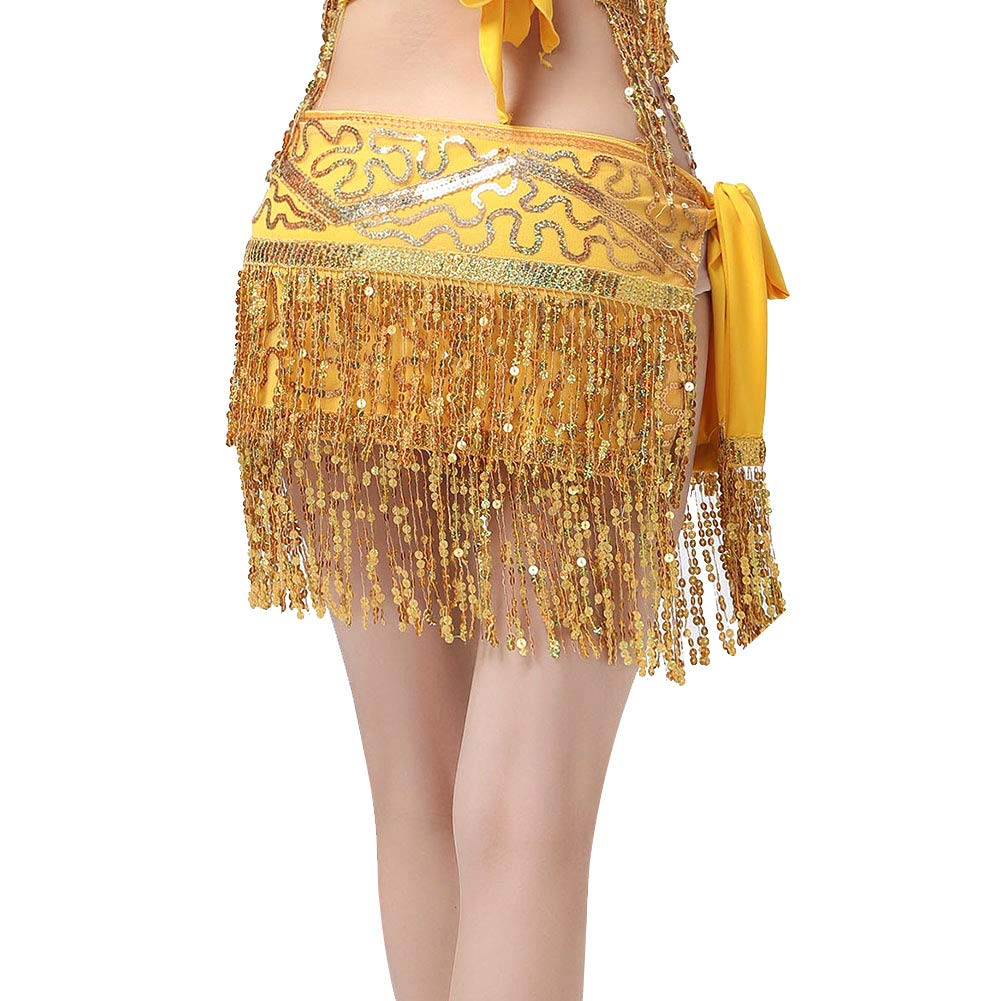 Dance Costumes for Women Girls Ladies, Belly Dance Hip Scarf or Belly Dance Top Bras Chest Pad - Coin/Tassel by MacRoog (Image #4)