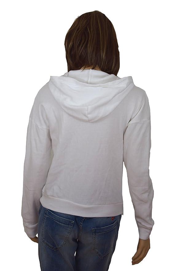 Hollister - Sudadera - Chaqueta - para mujer Weiß XS: Amazon.es: Ropa y accesorios