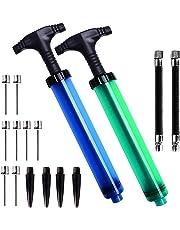 Dual Action Ball Pumpe für Basketball, Fußball, Volleyball, Rugby, Wasserball und andere aufblasbare Luftpumpe, Nadeln und Düsen enthalten