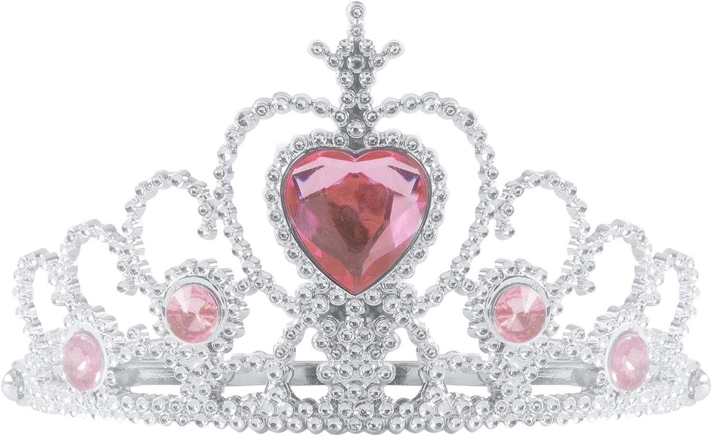 New Pink Glitter Tiara /& Stone