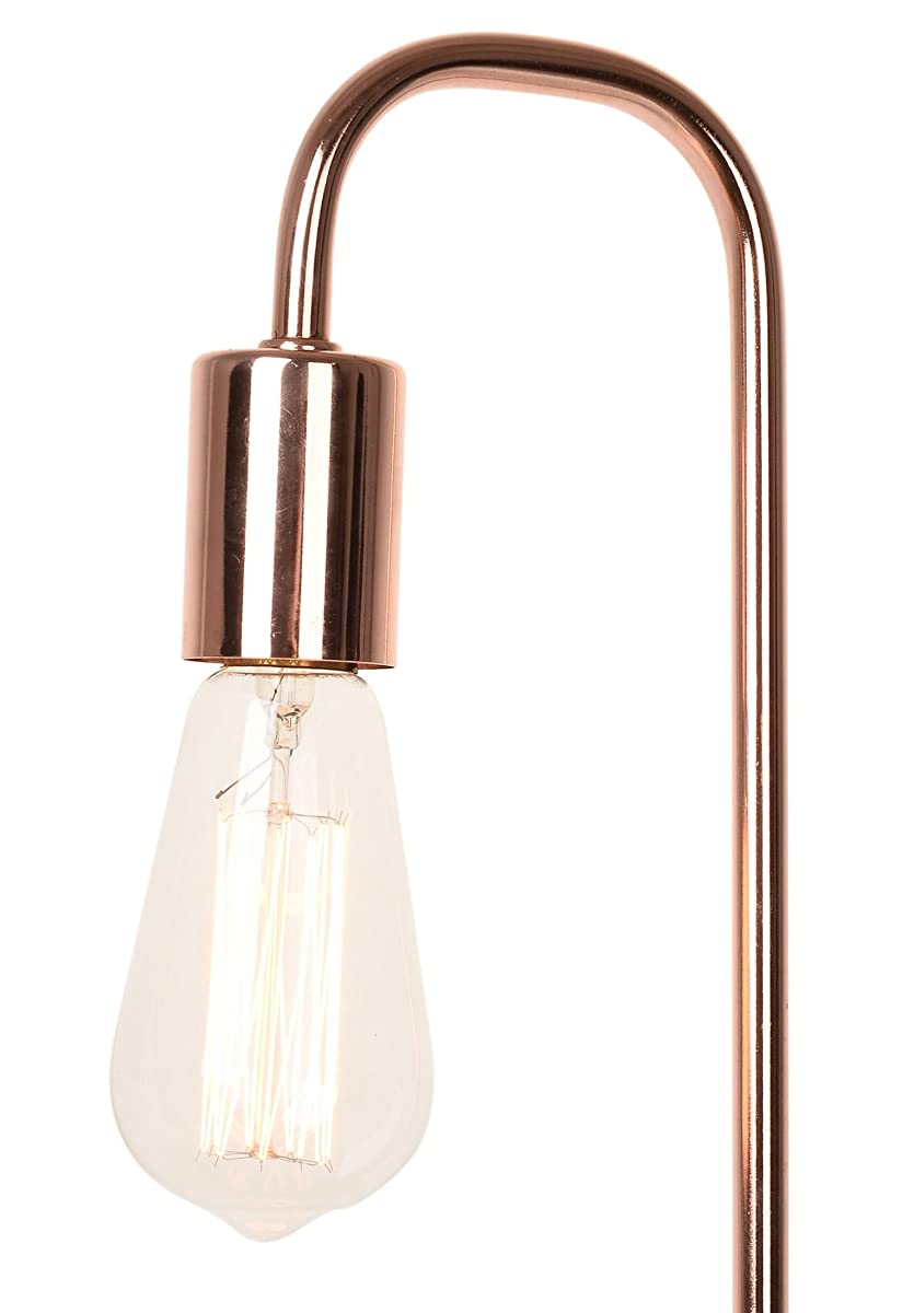 Catalina Lighting Catalina 20458-001 Rosie 19-Inch Rose Gold Desk Lamp with Faux Marble Base, Table, White Without Bulb
