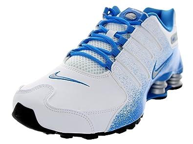 Nike Mens Shox NZ EU WhiteBlackObsidianMetallic Silver