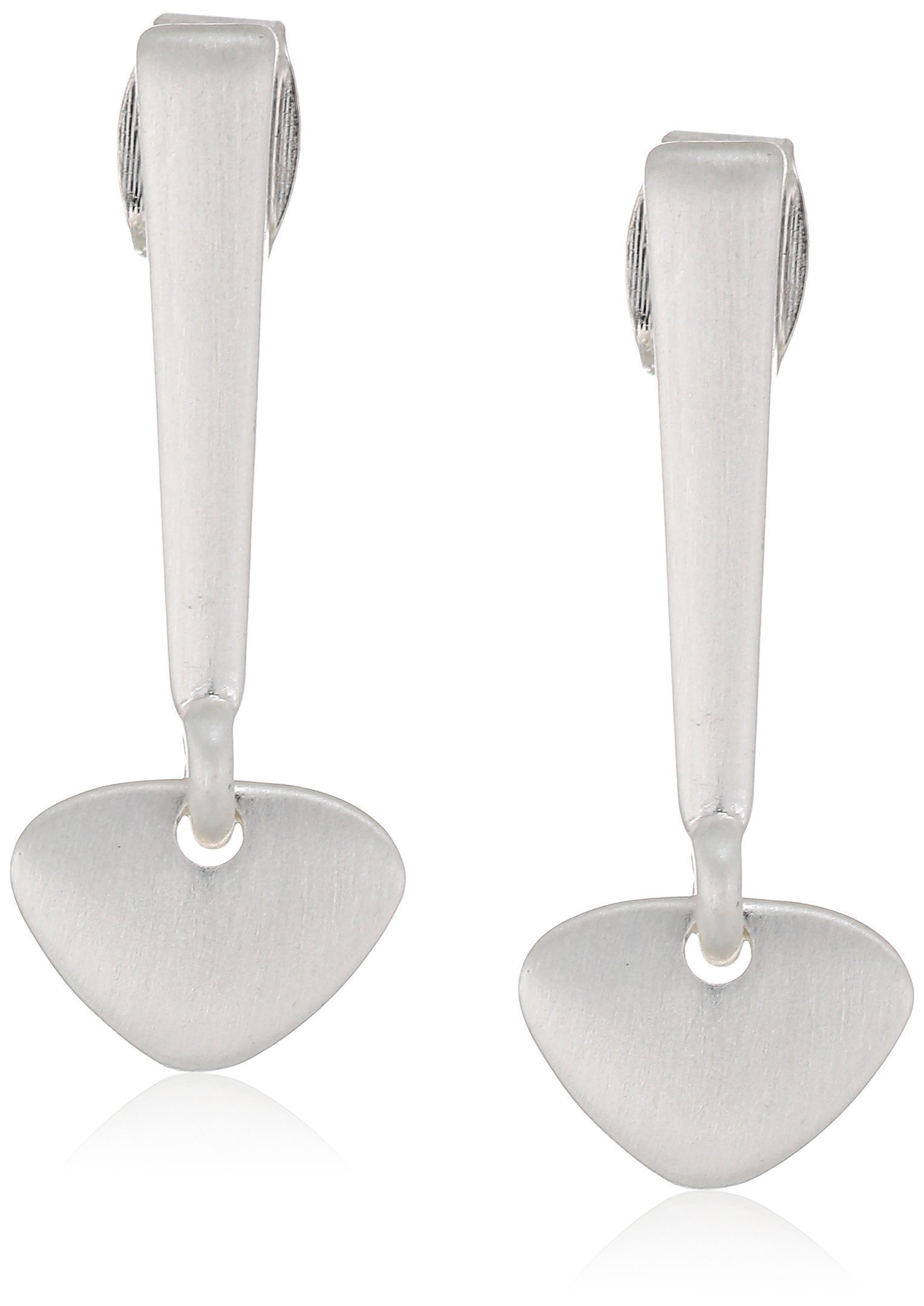 Lucky Brand Womens Small Linear Drop Earrings, Silver, One Size
