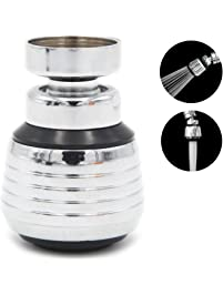 360 Degree Swivel Dual Spray Function 2 Flow Kitchen Sink Faucet Aerator  With