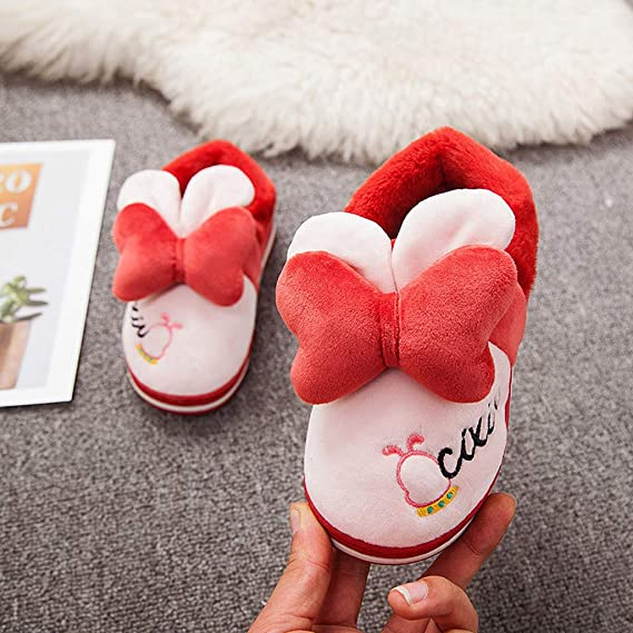 Toddler Boys Girls Soft Warm Plush Slipper Shoes 4-8 Years Old Kids Wild Indoor Warm Thick Cotton Shoes