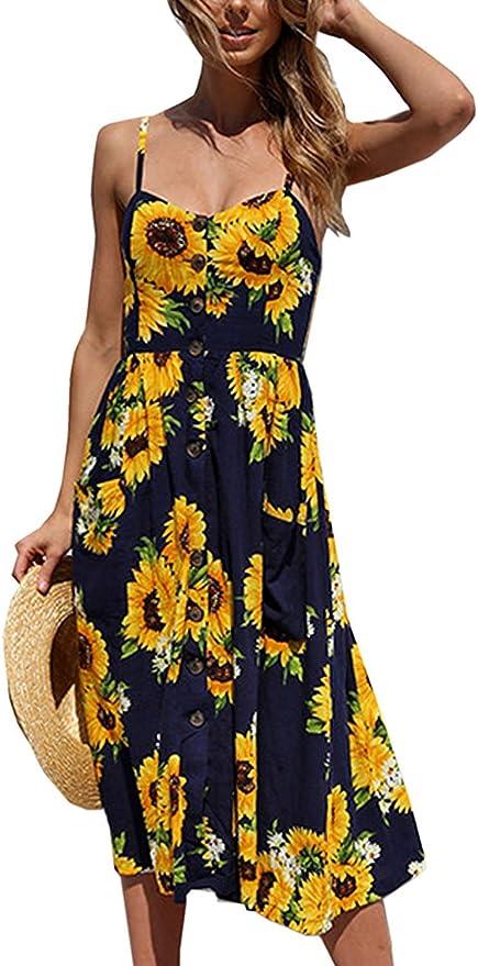 Toppshe Womens Swing Pleated Long Sleeve Floral Work Midi Dress with Pocket Knee Length