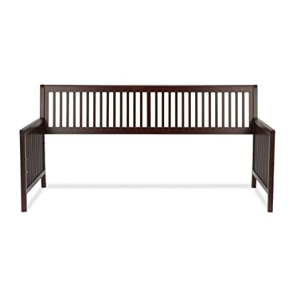 Amazon.com: Mission Wood Daybed Frame with Open-Slatted Back and ...