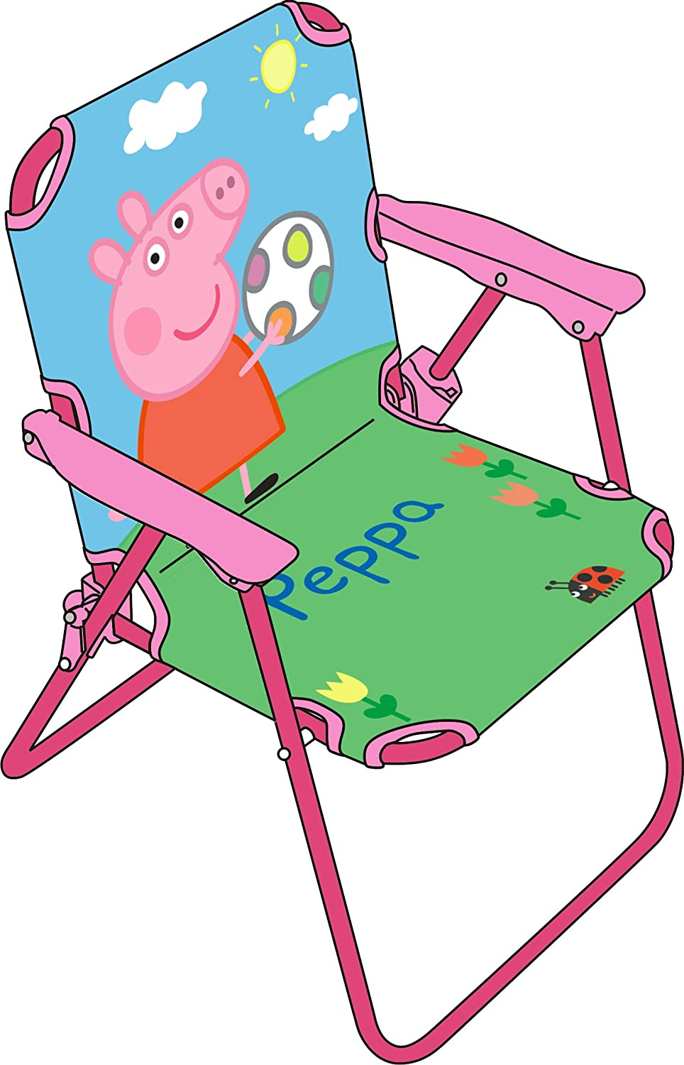 Peppa Pig Director Folding Chair In Fabric Amazon Co Uk  # Muebles De Peppa Pig