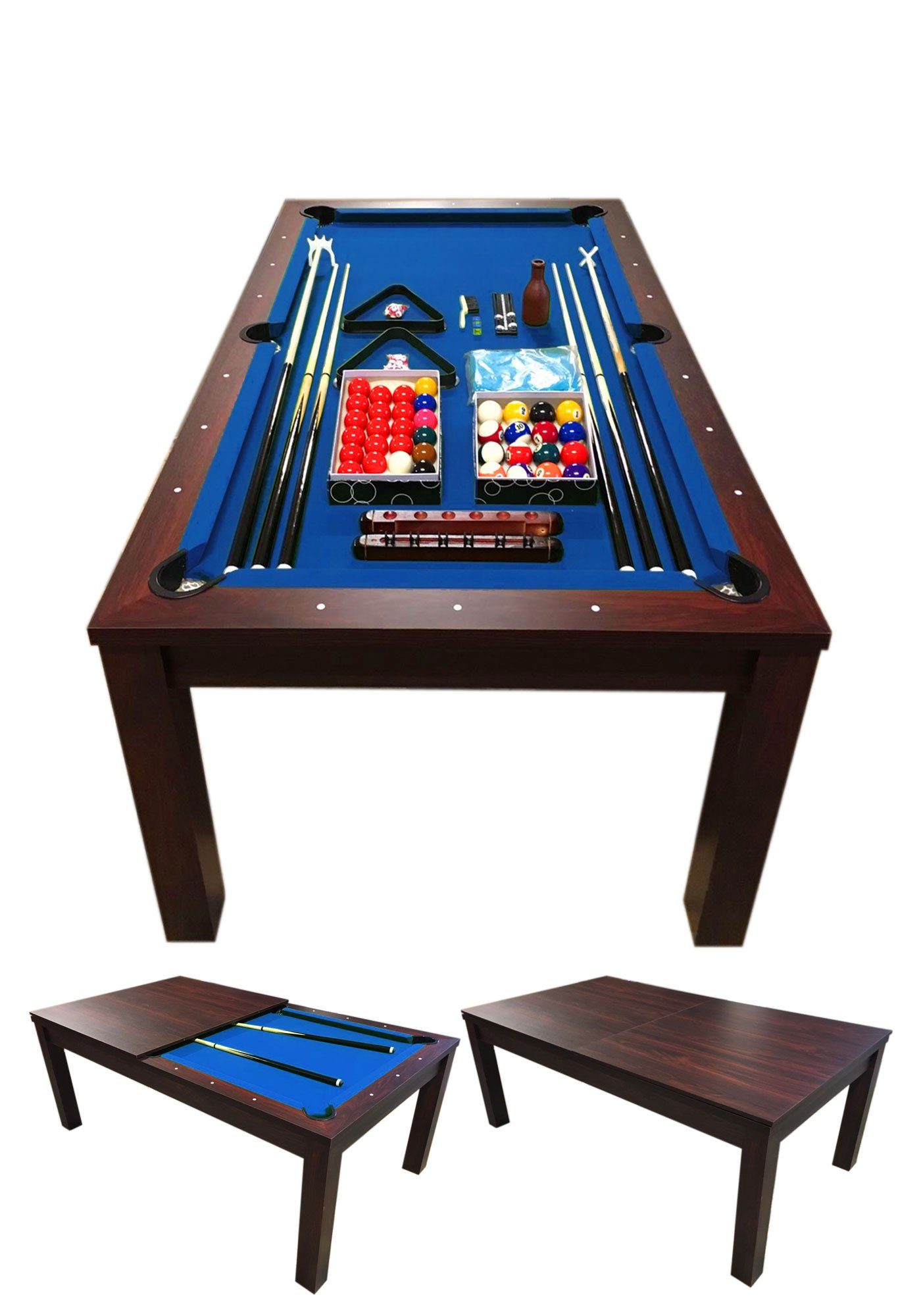 POOL TABLE 7FT Model BLUE SKY Snooker Full Accessories 7FT BECOME A BEAUTIFUL TABLE !! COVERAGE PLAN INCLUDED IN THE PRICE !!