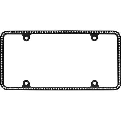 Cruiser Accessories 18150 Matte Black/Clear Diamondesque Frame: Automotive