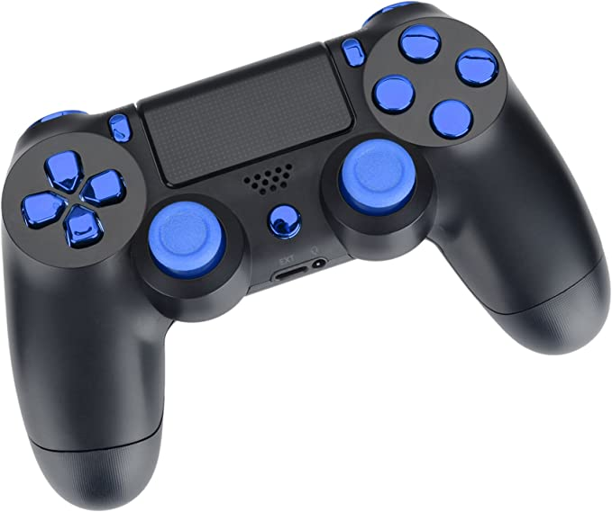 PS4 Controlador-Kit Mod cromo de azul (JDM-030): Amazon.es ...