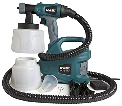 MYLEK MYPS700 PRO-Spray 700W Electric Sprayer Gun Kit-2 Paint Cups,  Shoulder Strap, 2 Air Filters, Cleaning Pin & 1 8m Hose-Creates a Non-Drip,  Fine