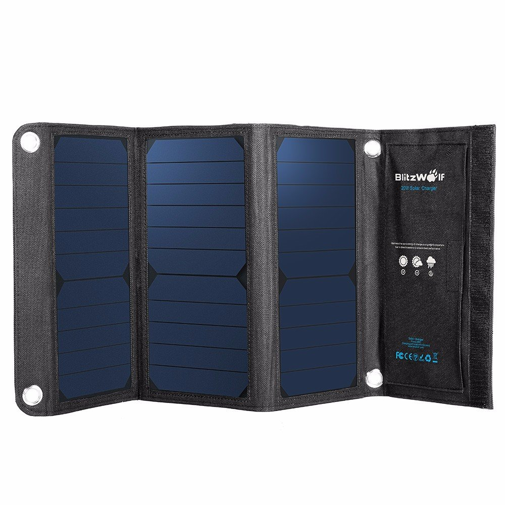 Blitzwolf 20W 3A Bw-L1 Foldable Portable Sunpower Solar by NDBD