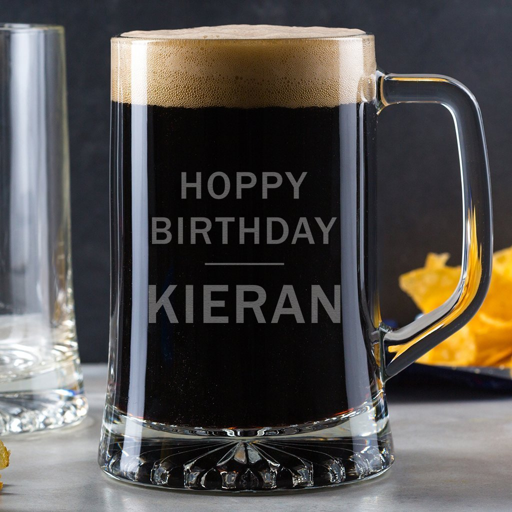Personalized Pint Glass Tankard/Birthday Pint Glass/Novelty Gifts For Men/funny 21st 18th 30th 40th 50th birthday gifts for men -