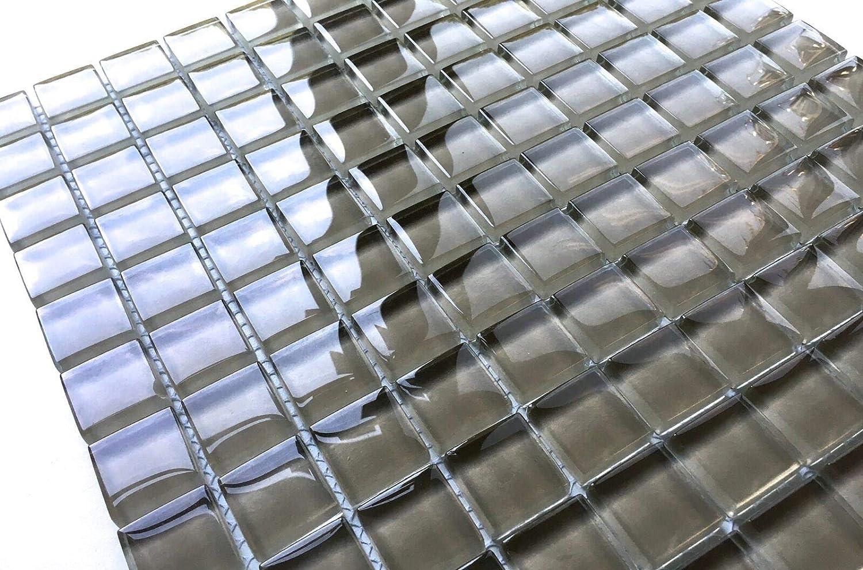 1x1 Sierra Shiny Finish Glass Mosaic Tile Walls Backsplashes Pools