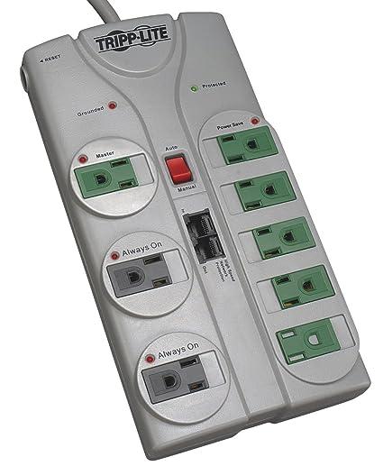 a9a60d23d Tripp Lite 8 Outlet (5 Energy Saving) Surge Protector Power Strip, 8ft Cord