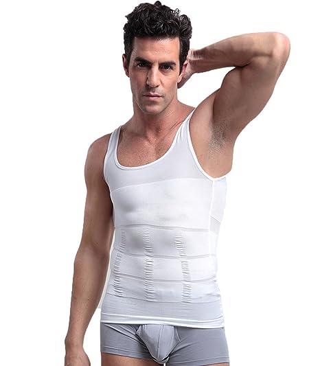 TieNew Faja Chaleco Hombre Adelgazante Reductora Compresion Elástica de Ropa Interior, Camiseta Faja Abdominal Entallada